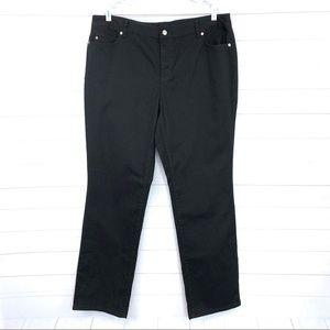 Michael Kors Straight Leg Jeans in Black